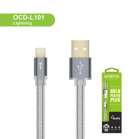 Oraimo Starry Lightning Charging Data Cable Silver (OCD-L101)