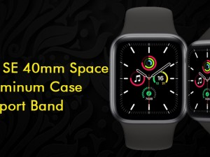 Apple Watch SE 40mm Space Gray Aluminum Case with Sport Band