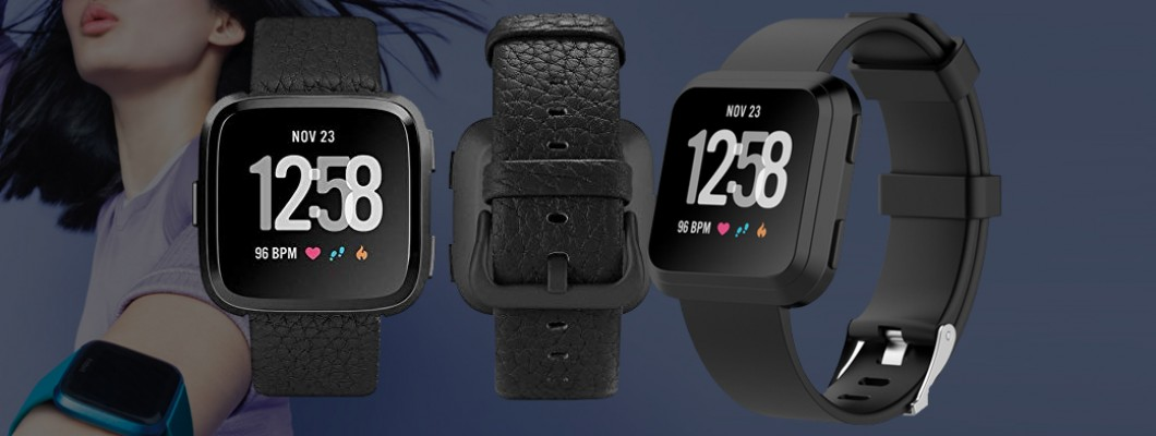 Fitbit Versa 2 Black Classic Band Carbon Aluminum Case